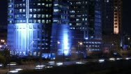 Avenue Buildings night time-lapse Stock Footage