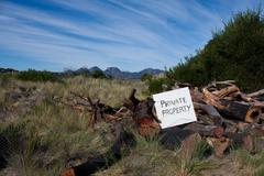 Private property sign Stock Photos