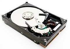 Hard disk drive internals - stock photo