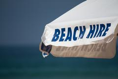 Beach Hire sign - stock photo