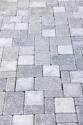 Stock Photo of interlocking stone driveway