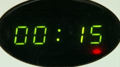Microwave clock countdown Stock Footage