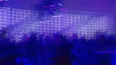 People Dancing at a night club -lights - stock footage