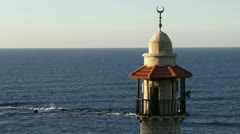 Muslim mosque in front of the sea. Stock Footage