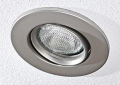 pot light in ceiling tile - stock photo