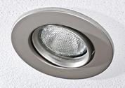 Pot light in ceiling tile Stock Photos