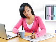 Young woman looking for job Stock Photos