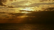 Stock Video Footage of Beautiful Sunset / sunrise over the ocean.