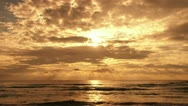 Stock Video Footage of Sunset over the ocean time-lapse.
