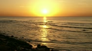 Stock Video Footage of Sunset at the beach