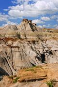 badlands in alberta, canada - stock photo
