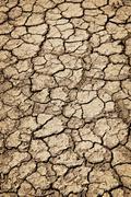 Kuiva säröillä maahan kuivuuden aikana Kuvituskuvat