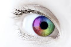 Stock Illustration of rainbow eye closeup