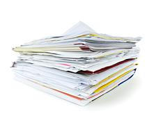 folders with documents - stock photo
