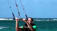 Kite Boarding, Kite Surfing, Water Sports, Fun - stock footage