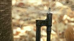 Agricultural Sprinkler. - stock footage