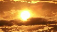 Sunrise or Sunset Time-Lapse (if inverted) Stock Footage