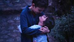 Love between brother and sister Stock Footage