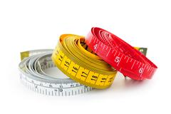 Measuring tapes Stock Photos