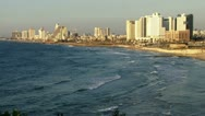 City beach wide shot. Stock Footage