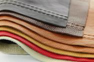 Stock Photo of leather upholstery samples