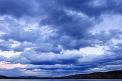 Cloudy dramatic sky Stock Photos