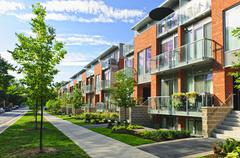 Stock Photo of modern town houses