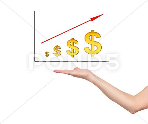 Stock Illustration of dollar graph