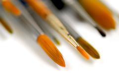 Stock Photo of paintbrushes macro
