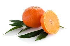 Ripe tangerines or mandarin Stock Photos