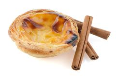 pastel de nata - stock photo