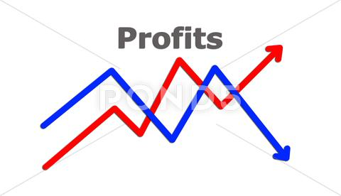 Stock Illustration of profits concept