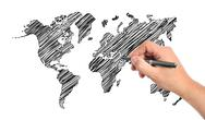 Hand drawing map Stock Illustration