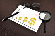 Scheme profits dollar Stock Illustration