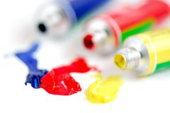 primary colors paint - stock photo