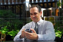 businessman pda - stock photo