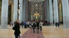 Sagrada Familia interior Stock Footage