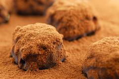 Stock Photo of chocolate truffles