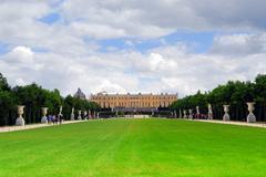 Versailles gardens and palace Stock Photos