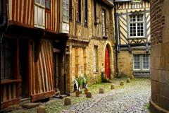 Stock Photo of medieval houses