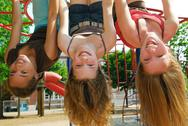 Girls in a park Stock Photos