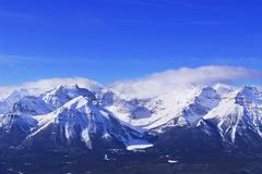 Snowy mountains Stock Photos