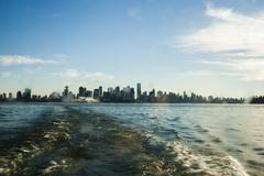 Stock Photo of vancouver skyline from ferry
