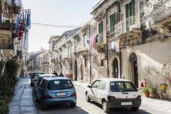 street view of syracuse - stock photo