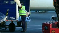 Stock Video Footage of Airport Workers, Airplane Maintenance, Ground Crew