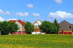 residential homes - stock photo