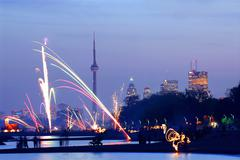 toronto fireworks - stock photo
