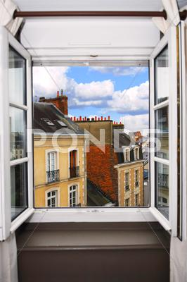 Stock photo of open window