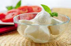 Bocconcini cheese Stock Photos