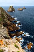 Atlantic coast in brittany Stock Photos